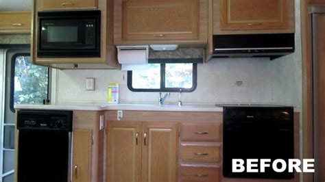 Rv Kitchen Cabinets by Rv Renovation Painting Rv Cabinets Updating Cabinet