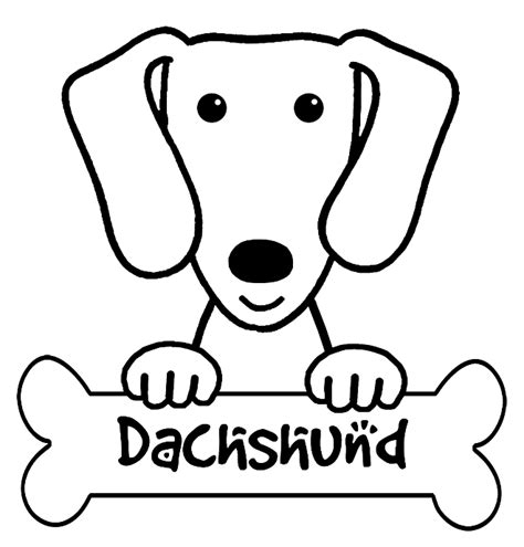 dachshund coloring pages dog breeds picture
