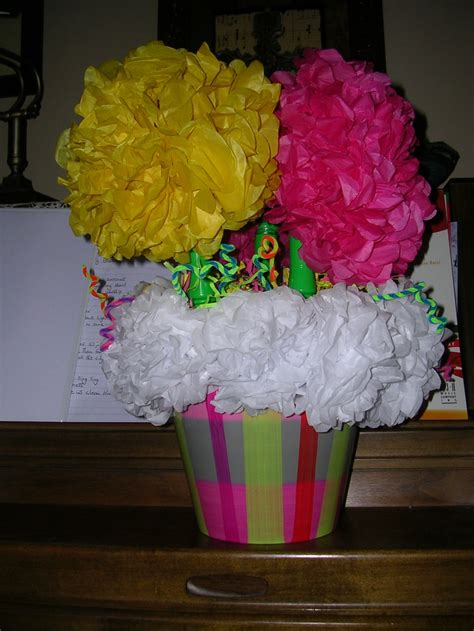 How To Make Tissue Paper Centerpieces - tissue paper flower centerpiece nyk