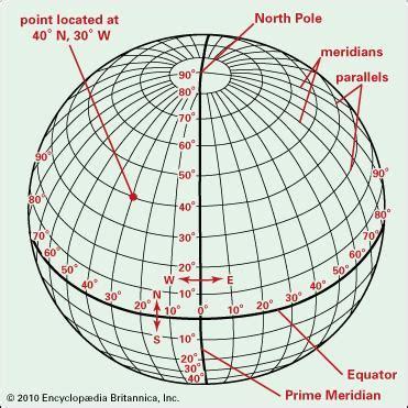 globe maps and lines of latitude latitude and longitude geography britannica