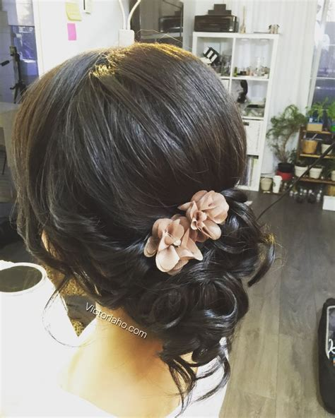 ball hairstyles updo buns romantic updo side bun asian hairstyles hair all down