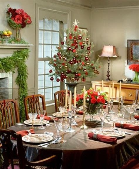 christmas decorating dining room table photograph 37 stunn