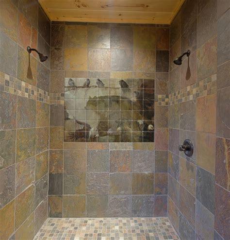 bathroom tile murals wildlife tile mural in shower contemporary bathroom