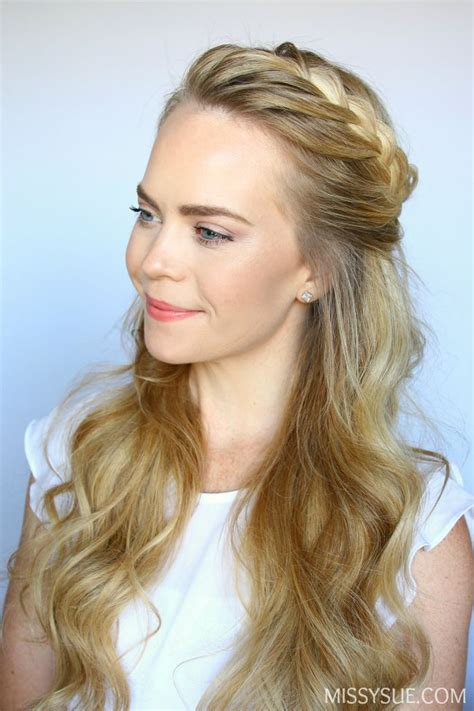 10 perfect hairstyles for d hair daily makeover half up french braid crown wedding day pinterest