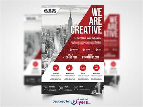 contemporary flyer design modern business agency flyer psd template flyer psd