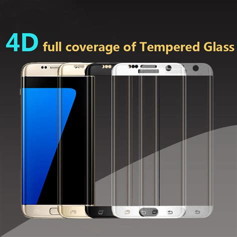 Tempered Glass 4d Cover For Samsung S7 Edge Black samsung g930f galaxy s7 4d edge to edge tempered glass screen protector