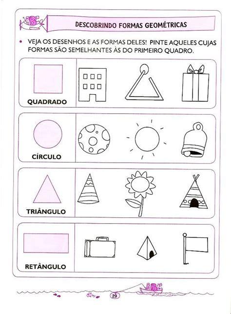 figuras geometricas atividades educação infantil 25 melhores ideias sobre atividades de geometria no