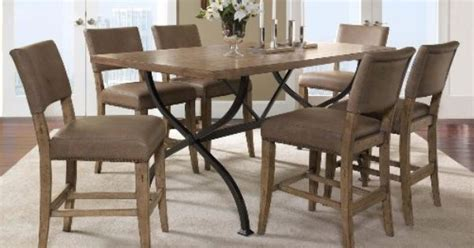 Brownville Dining Table Charleston 7 Counter Height Rectangle Wood Dining Set With Parson Stools By Hillsdale