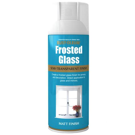 spray paint in glass rust oleum frosted window glass effect spray paint 400ml