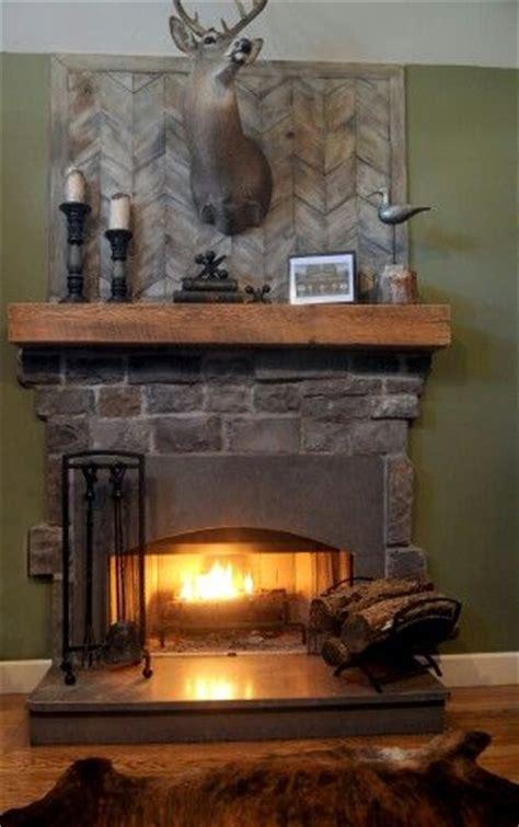 fireplace wood beam mantel house pics