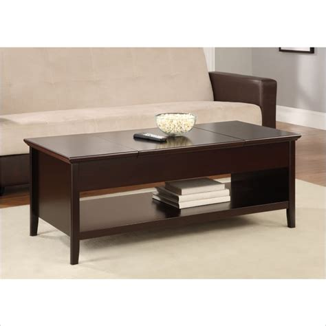 Espresso Lift Top Coffee Table by Altra Furniture Lift Top Coffee Table In Espresso 425284