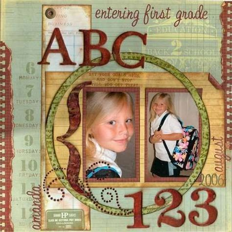 scrapbook layout first day of school first day of school lovely layouts scrapbooking