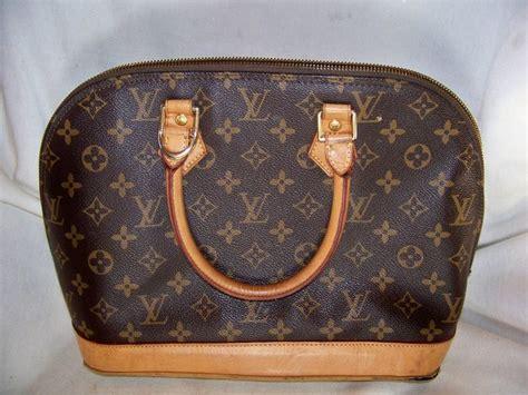 vintage monogram louis vuitton handbag purse  serial