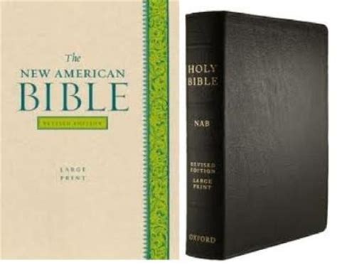 Nabre Catholic Mens Bible new american bible nabre large print leather
