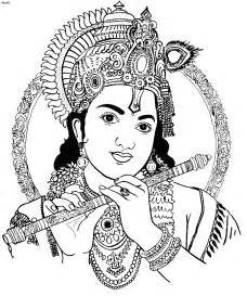 Outline Pictures Of God Krishna by Krishna Coloring Page Coloring Home