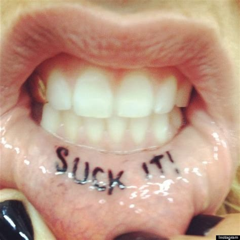 inner lip tattoo ke ha lip singer gets it inked inside