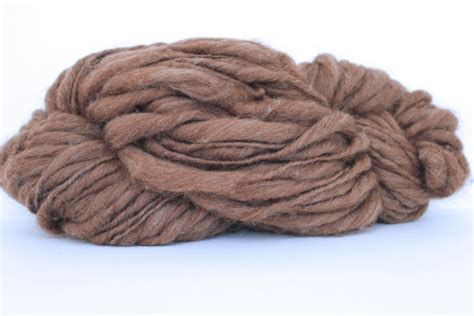 brown color spun thick and thin alpaca merino yarn from handspunyarnshop on etsy studio