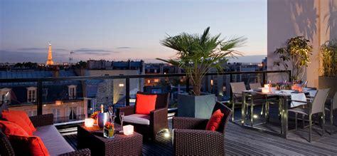 Un appartement terrasse privatisé pour un cocktail à l?hôtel L?Edmond**** Paris le luxe