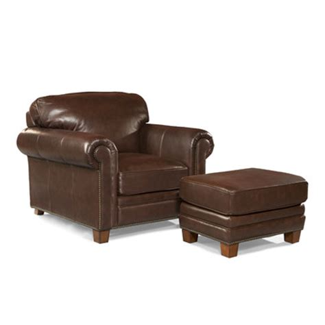 arm chair with ottoman hillsboro leather arm chair and ottoman wayfair