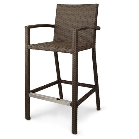 Outdoor Resin Bar Stools by Michio Resin Wicker Outdoor 5 Bar Table And Arm