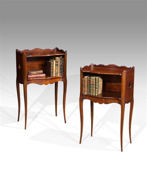 pair of antique bedside tables georgian bedside tables mahogany bedside cupboard antiques uk