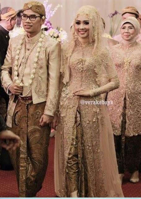 30 model baju kebaya pengantin modern berjilbab terbaru