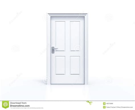 A Closed Door closed door on white background stock illustration image