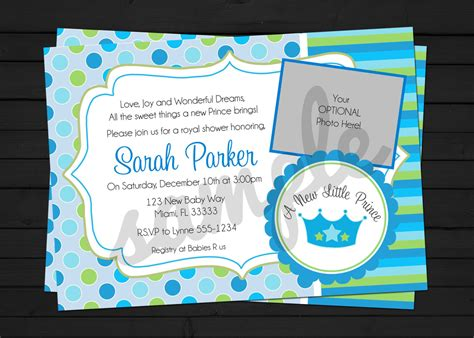 A New Prince Baby Shower by A New Prince Baby Shower Invitation Digital File