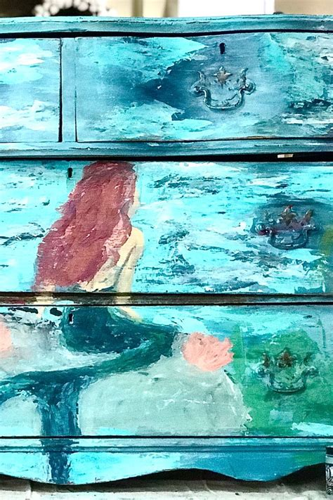 mermaid dresser boho blended diy paint furniture