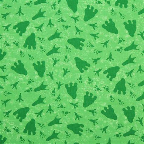 green dinosaur footprints fabric Dinos On Parade USA