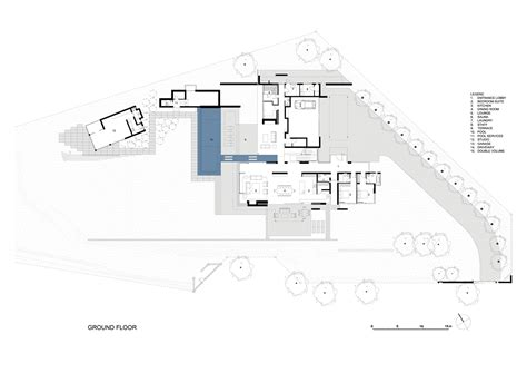 Architecture Floor Plan by Modern Villa Montrose House By Saota Cape Town South