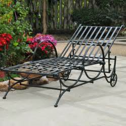 shop international caravan wrought iron patio chaise