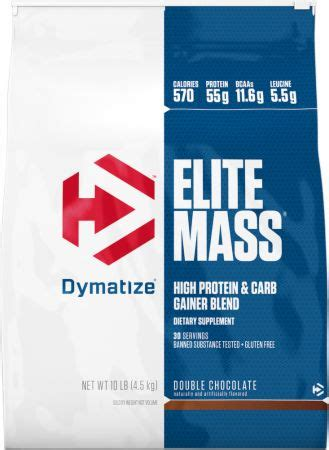 Elite Masa Gainer Ecer 2 Lbs dymatize elite mass at bodybuilding best prices for