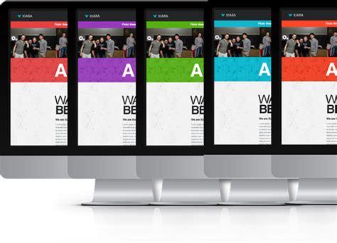 themeforest xiara xiara responsive onepage parallax html template on behance