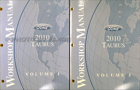 car engine repair manual 2009 ford taurus navigation system 2010 ford taurus repair shop manual original 2 vol set