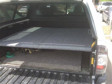 truck bed platform simple sleeping platform cheap works great tacoma world