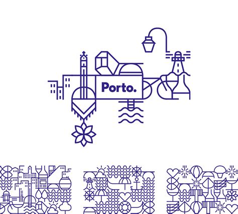 Logotype Pattern | brand new new logo and identity for porto by white studio
