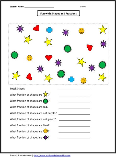 Identifying Equivalent Fractions Worksheet