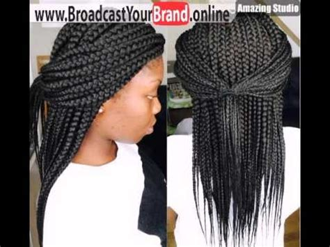 what isnthe length for box braids half pony for medium length thick box braids youtube
