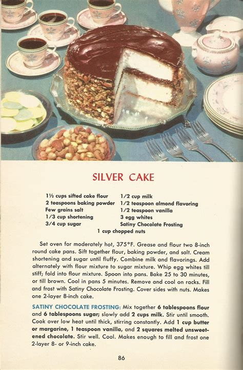 baking cookbook 270 dessert recipes for sweet treats books vintage recipes 1950s cakes silver cake antique alter ego