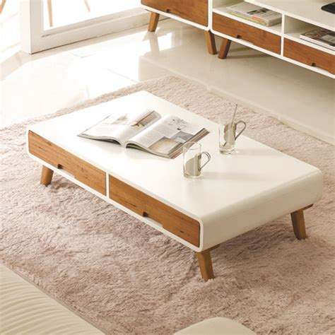coffee table for small living room show homes white paint wood coffee table nordic creative modern minimalist small apartment