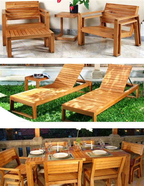 outdoor wood furniture by maku the patio teak furniture