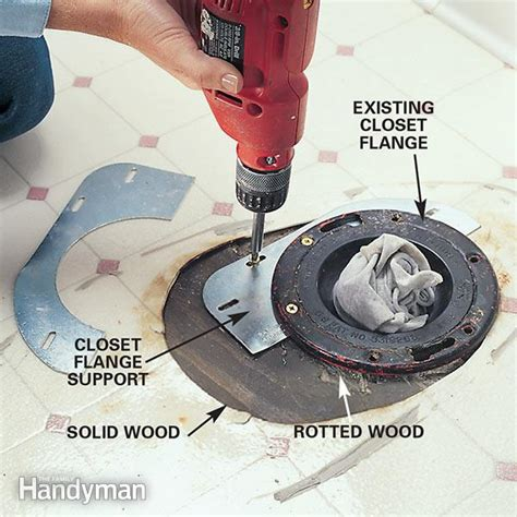 replacing a rotted floor the toilet the family