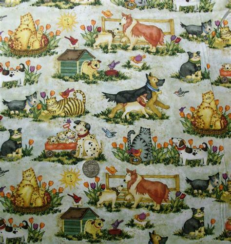 Print Photos On Fabric Quilting by Country Quilting Fabric Pals At Play Cat Allover