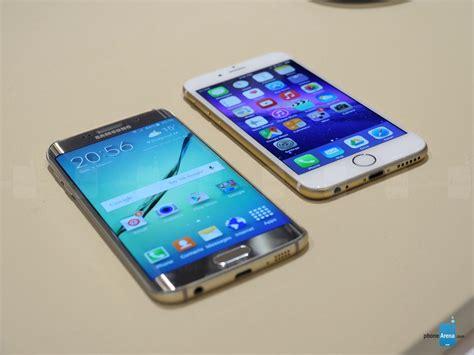 Samsung S6 Galaxy Edge samsung galaxy s6 edge vs apple iphone 6 look