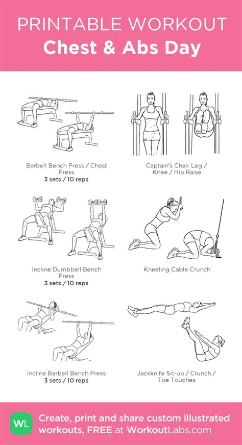 chest abs day my visual workout created at workoutlabs click through to customize and