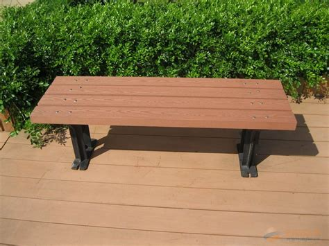 weather resistant wood plastic composite wpc garden bench