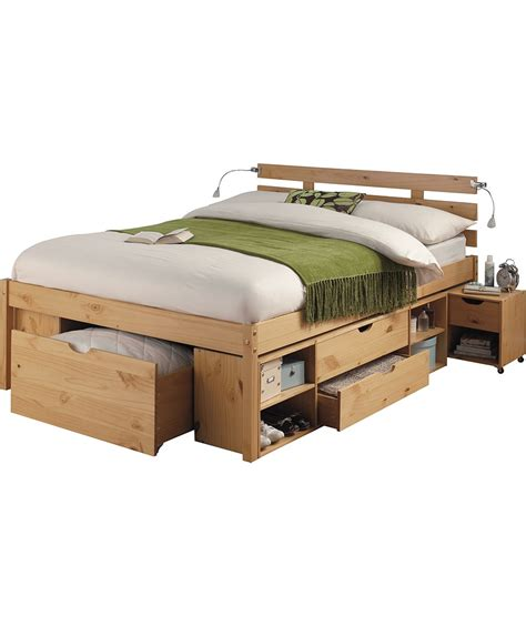 Argos Bed Frames Buy Ultimate Storage Bed Frame Pine Effect At Argos Co Uk Your Shop For Bed