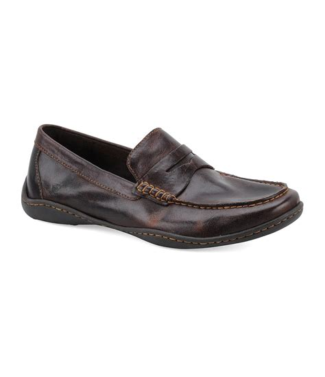 loafers casual born simon casual loafers in brown for lyst
