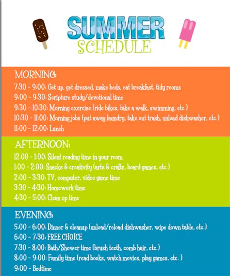 home summer school 10 to 28 images 25 best ideas about daily schedule kids on pinterest
